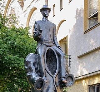 Statua Franz Kafka Praga