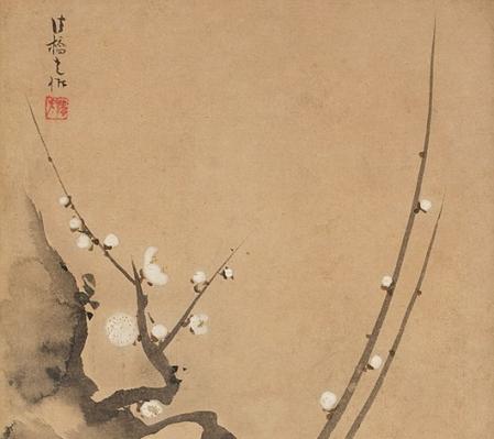 dipinto giapponese fiori