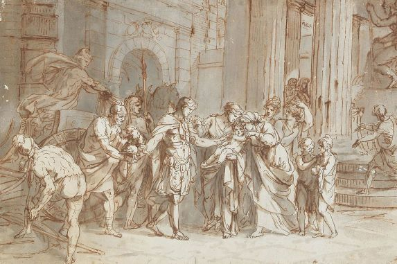 Ettore e Andromaca dipinto