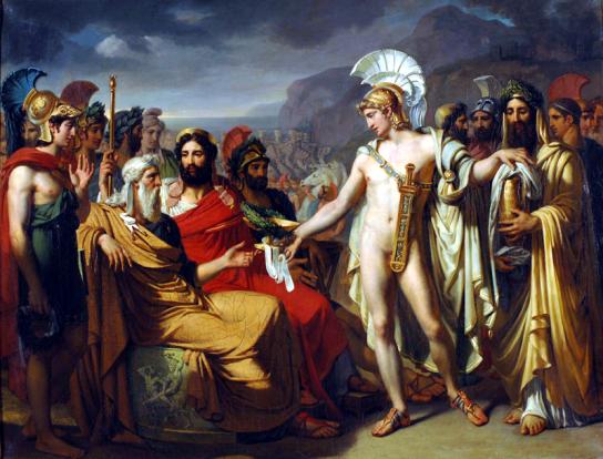 Achille Iliade dipinto